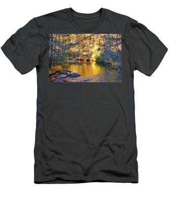 Fishing On The Cullasaja By H H Photography Of Florida Men's T-Shirt (Athletic Fit)