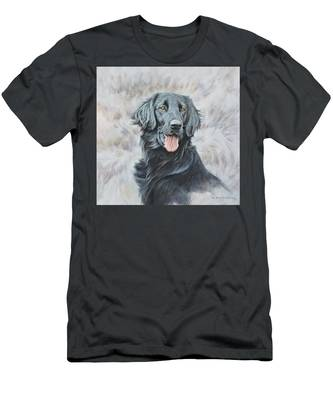 Flat Coated Retriever Portrait Men's T-Shirt (Athletic Fit)