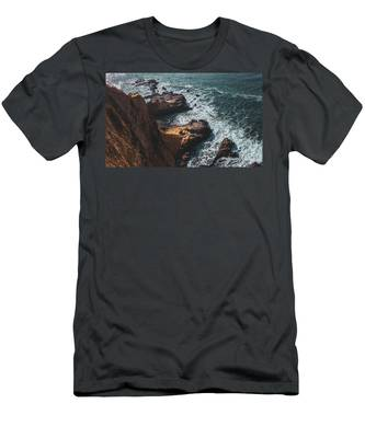 Men's T-Shirt (Athletic Fit) featuring the photograph Flat Rock Point by Andy Konieczny