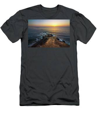 Men's T-Shirt (Athletic Fit) featuring the photograph Flat Rock Point Sunset by Andy Konieczny