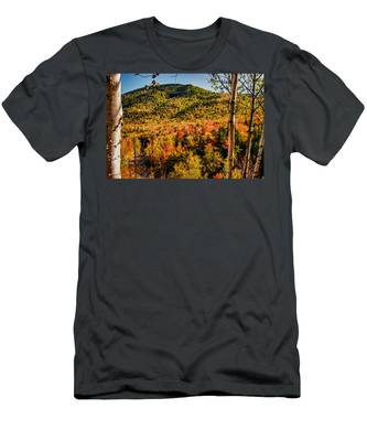 Men's T-Shirt (Athletic Fit) featuring the photograph Foliage View From Crawford Notch Road by Jeff Folger