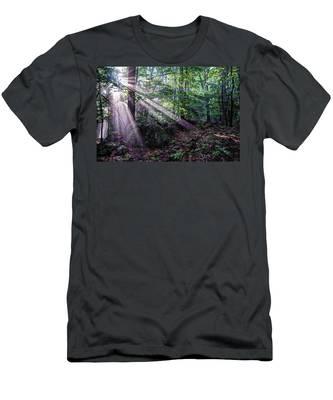 Forest Sunbeams Men's T-Shirt (Athletic Fit)