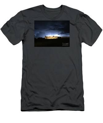 Lightening At Castillo De San Marco Men's T-Shirt (Athletic Fit)
