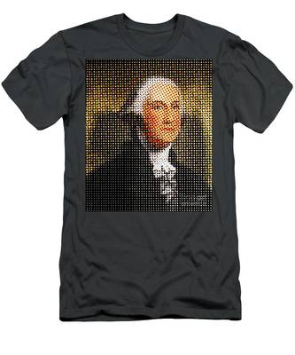 George Washington In Dots  Men's T-Shirt (Athletic Fit)