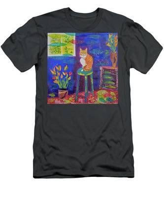 Ginger The Cat Men's T-Shirt (Athletic Fit)