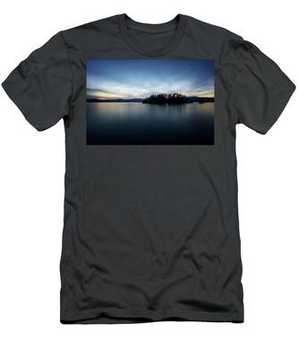 Men's T-Shirt (Athletic Fit) featuring the photograph Hens And Chickens Islands by Brad Wenskoski