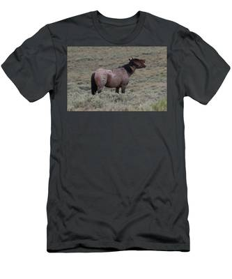 Men's T-Shirt (Athletic Fit) featuring the photograph Hollering Horse by Christy Pooschke