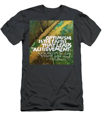 Inspirational Saying Optimism Men's T-Shirt (Athletic Fit)