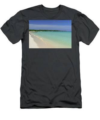 Seven Mile Beach, Negril Men's T-Shirt (Athletic Fit)