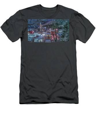 Jim Thorpe Pennsylvania In Winter #1 Men's T-Shirt (Athletic Fit)