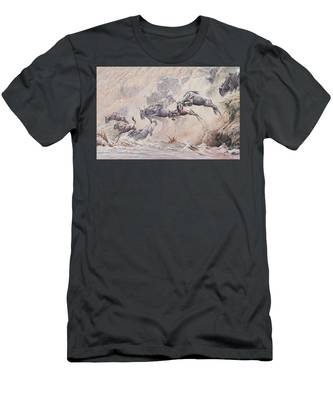 Leap Of Faith Men's T-Shirt (Athletic Fit)