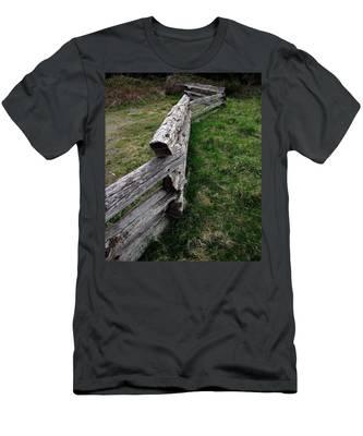 Log Fence Men's T-Shirt (Athletic Fit)