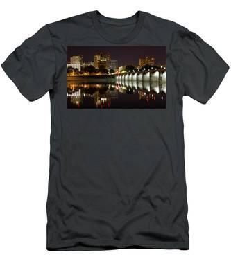 Market Street Bridge Reflections Men's T-Shirt (Athletic Fit)