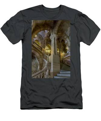 Men's T-Shirt (Athletic Fit) featuring the photograph Million Dollar Staircase by Brad Wenskoski