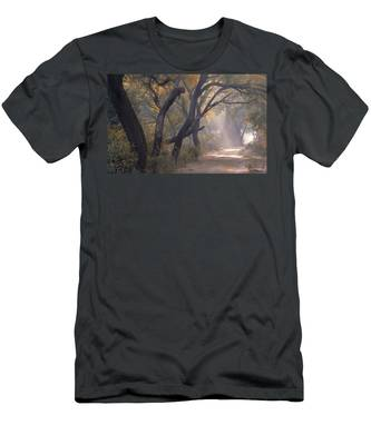 Misty Morning, Bharatpur, 2005 Men's T-Shirt (Athletic Fit)