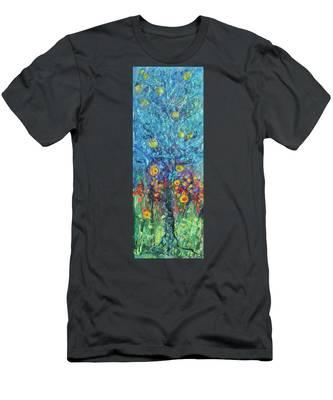 Moon Flowers Men's T-Shirt (Athletic Fit)