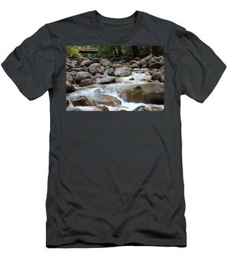 Men's T-Shirt (Athletic Fit) featuring the photograph Nature's Flow - 3 by Christy Pooschke