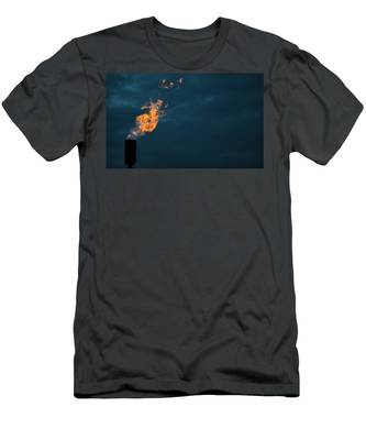 Men's T-Shirt (Athletic Fit) featuring the photograph Night Light by Carl Young