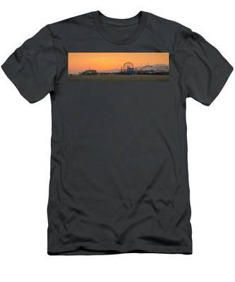 Orange Sunset - Panorama Men's T-Shirt (Athletic Fit)