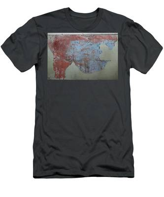 Men's T-Shirt (Athletic Fit) featuring the photograph Peeling Paint - 2 by Christy Pooschke