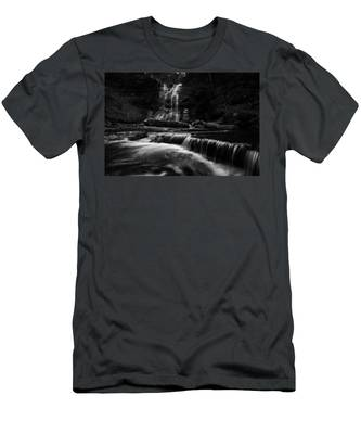 Men's T-Shirt (Athletic Fit) featuring the photograph Plotter Kill Falls by Brad Wenskoski