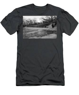 Falling Water On The Pompton Spillway In Winter Men's T-Shirt (Athletic Fit)