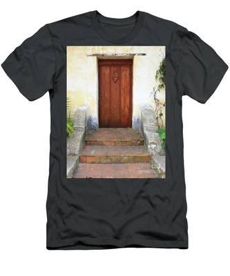 Sacred Heart Door Men's T-Shirt (Athletic Fit)