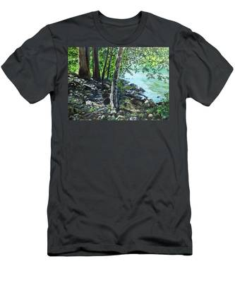 Shadows On The Bank Men's T-Shirt (Athletic Fit)