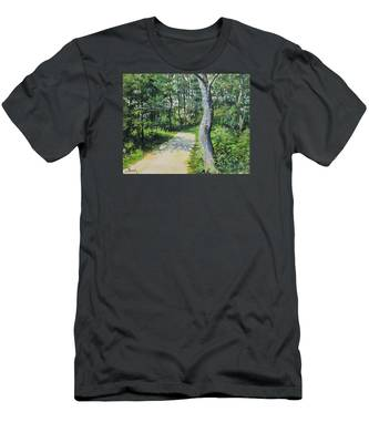 Start Of The Trail Men's T-Shirt (Athletic Fit)