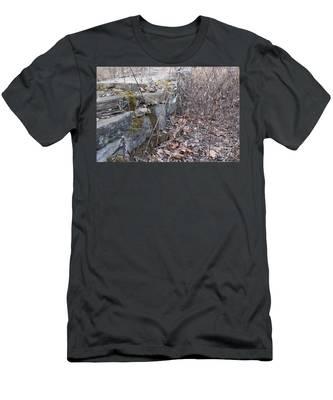 Stone Wall At Jackson Lock Men's T-Shirt (Athletic Fit)