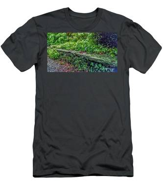 Stone Wall At Laurelwood Men's T-Shirt (Athletic Fit)
