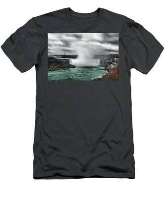 Storm At Niagara Men's T-Shirt (Athletic Fit)