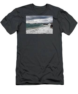 Stormy Day On Redondo Men's T-Shirt (Athletic Fit)