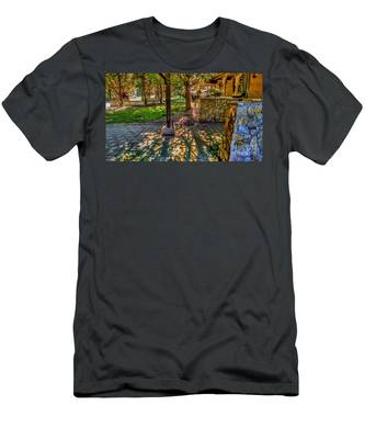 Sunset At Community Park In Montville, New Jersey Men's T-Shirt (Athletic Fit)
