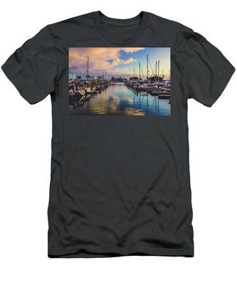 Sunset At Dana Point Harbor Men's T-Shirt (Athletic Fit)
