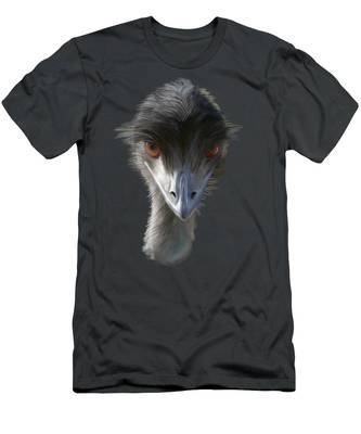 Suspicious Emu Stare Men's T-Shirt (Athletic Fit)