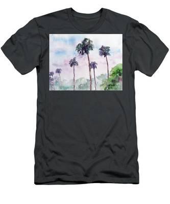Swaying Palms Men's T-Shirt (Athletic Fit)