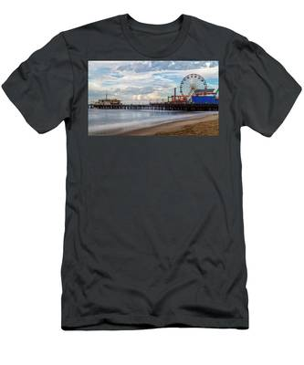 The Pier On A Cloudy Day Men's T-Shirt (Athletic Fit)