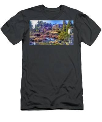 The Pond At Peddler's Village Men's T-Shirt (Athletic Fit)