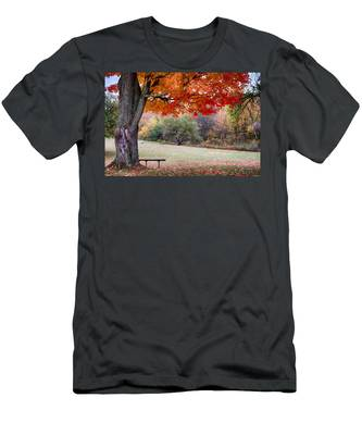 Men's T-Shirt (Athletic Fit) featuring the photograph The Robert Frost Farm by Jeff Folger