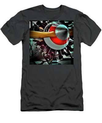 The Vintage Stearman C-3b Biplane Men's T-Shirt (Athletic Fit)