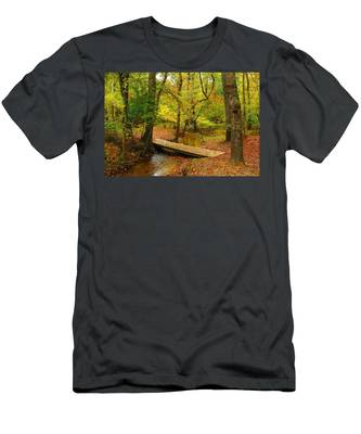 There Is Peace - Allaire State Park Men's T-Shirt (Athletic Fit)