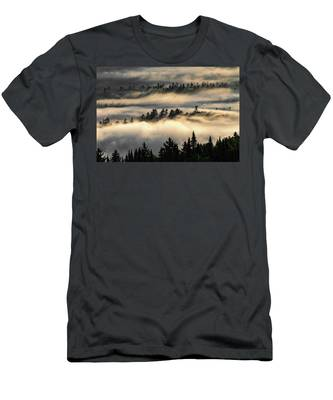 Men's T-Shirt (Athletic Fit) featuring the photograph Trees In The Clouds by Brad Wenskoski