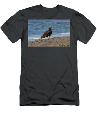 Men's T-Shirt (Athletic Fit) featuring the photograph Turkey Vulture  by Christy Pooschke