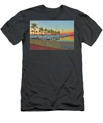 Twin Dolphin Marina Men's T-Shirt (Athletic Fit)