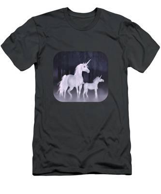 Unicorns In The Mist Men's T-Shirt (Athletic Fit)