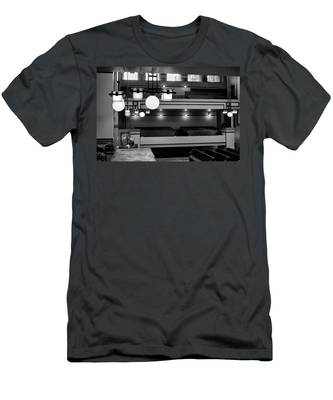 Unity Temple Interior Black And White Men's T-Shirt (Athletic Fit)