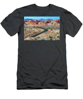 Road Through The Valley Of Fire Men's T-Shirt (Athletic Fit)