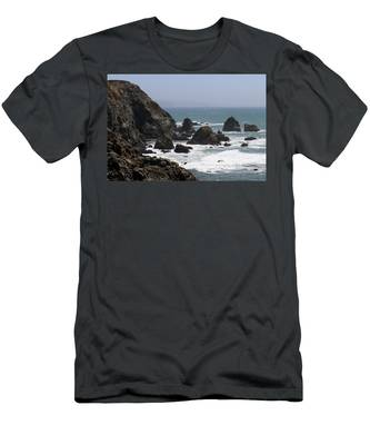 Men's T-Shirt (Athletic Fit) featuring the photograph View From Bodega Head In Bodega Bay Ca - 4 by Christy Pooschke