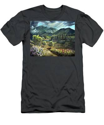 Vista View Of Cannon Mountain Men's T-Shirt (Athletic Fit)